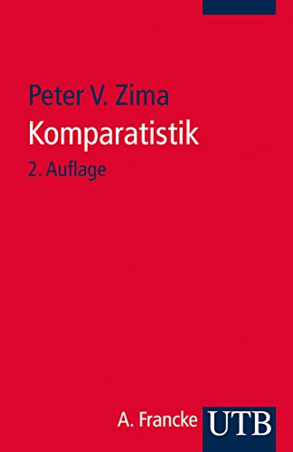 9783825217051: Komparatistik: Einführung in die Vergleichende Literaturwissenschaft