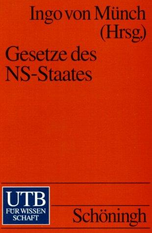 9783825217907: Gesetze des NS-Staates