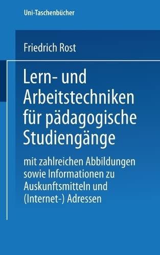 9783825219949: Lern- und Arbeitstechniken für das Studium