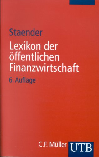 9783825224905: Lexikon der öffentlichen Finanzwirtschaft