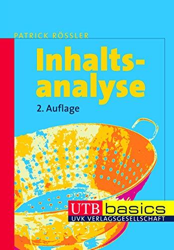 Inhaltsanalyse. UTB basics - Patrick Rössler