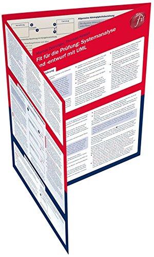9783825242091: Fit für die Prüfung: Systemanalyse und -entwurf mit UML: Lerntafel