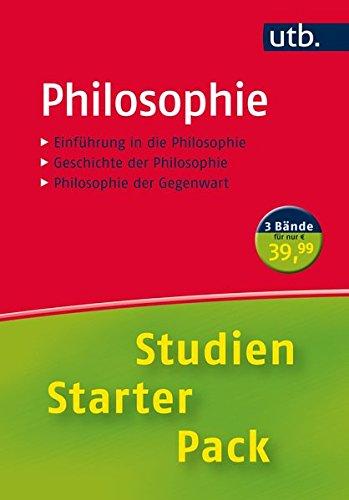 9783825242770: Studien-Starter-Pack Philosophie: Dreibändige Handbibliothek für die erste Phase des Studiums