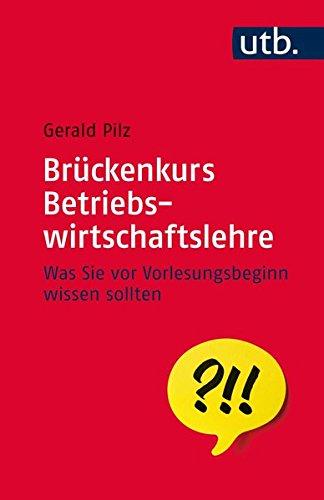 9783825243920: Brückenkurs Betriebswirtschaftslehre