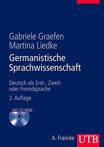 9783825284916: Germanistische Sprachwissenschaft: Deutsch als Erst-, Zweit- oder Fremdsprache