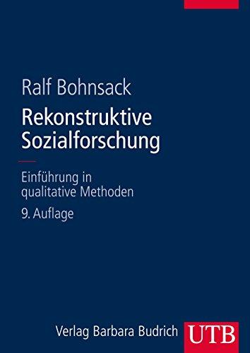 9783825285548: Rekonstruktive Sozialforschung