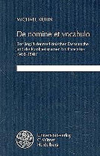 De nomine et vocabulo. Der Begriff der medizinischen Fachsprache und die Krankheitsnamen bei Paracelsus (1493 - 1541). - Kuhn, Michael.
