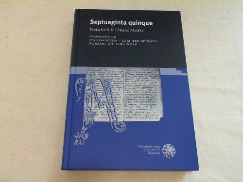 9783825309145: Septuaginta quinque: Festschrift für Heinz Mettke (Jenaer germanistische Forschungen)