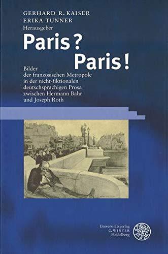 9783825312121: Paris? Paris.
