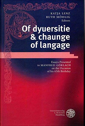 Of dyuersitie & chaunge of langage.
