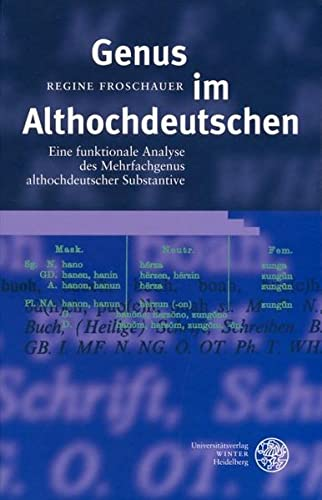 Genus im Althochdeutschen: Regine Froschauer