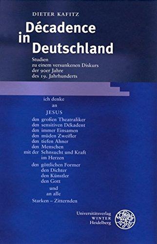 Décadence in Deutschland: Dieter Kafitz