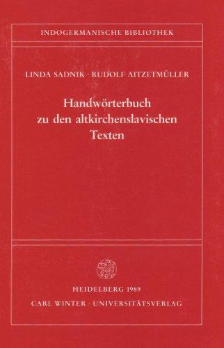 9783825341022: Handwörterbuch zu den altkirchenslavischen Texten