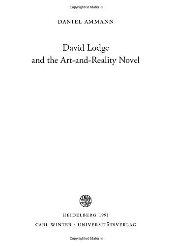 David Lodge and the Art-and-Reality Novel: Daniel Ammann