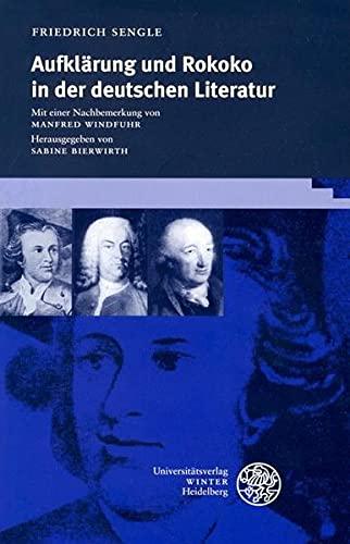 9783825350109: Aufklarung und Rokoko in der deutschen Literatur