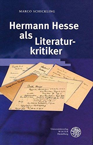 9783825350802: Hermann Hesse als Literaturkritiker