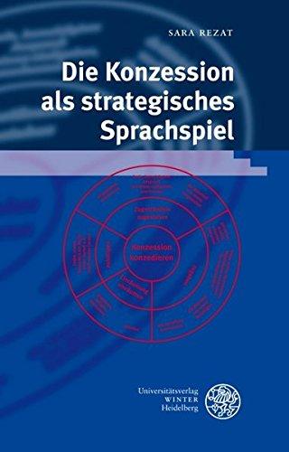 9783825353131: Die Konzession als strategisches Sprachspiel