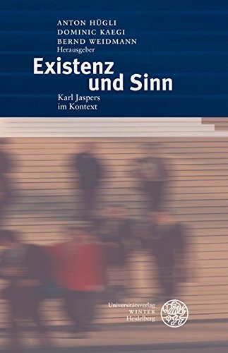 9783825356934: Existenz und Sinn: Karl Jaspers im Kontext. Festschrift f�r Reiner Wiehl