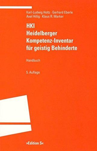 9783825383237: HKI: Heidelberger Kompetenz-Inventar für geistig Behinderte