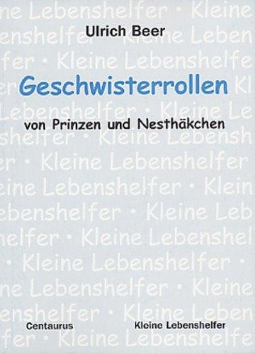 9783825505592: Geschwisterrollen Von Prinzen Und Nes