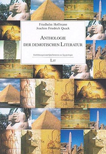 """9783825807627: Anthologie der demotischen Literatur. Einführungen und Quellentexte zur Ã""""gyptologie"""