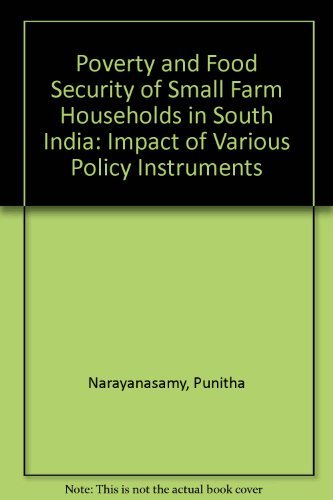 9783825829681: Poverty and Food Security of Small Farm Households in South India: Impact of Various Policy Instruments