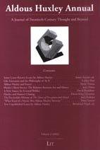 9783825862800: Aldous Huxley Annual: Volume 2 (2002)