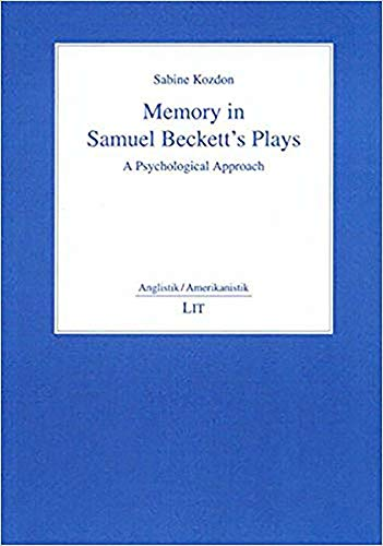 9783825872557: Memory in Samuel Beckett's Plays: A Psychological Approach