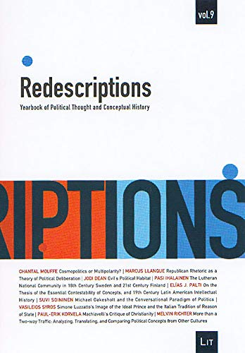 Redescriptions : Yearbook of Political Thought and Conceptual History, Vol. 9