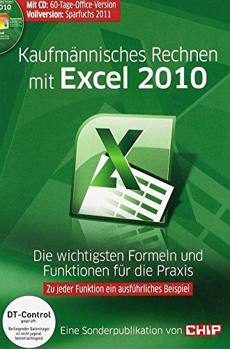 9783825924959: Kaufmännisches Rechnen mit Excel 2010, m. CD-ROM