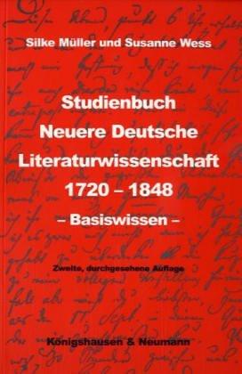 9783826017131: Studienbuch Neuere Deutsche Literaturwissenschaft 1720-1848