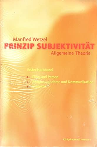 9783826020490: Prinzip Subjektivität (German Edition)