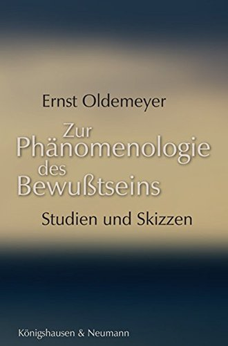 9783826029240: Zur Phänomenologie des Bewußtseins: Studien und Skizzen