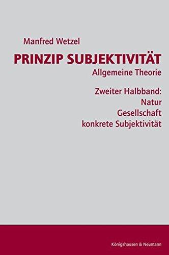 9783826031298: Prinzip Subjektivität: Allgemeine Theorie 1.2