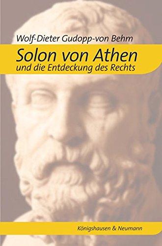 9783826041198: Solon von Athen und die Entdeckung des Rechts