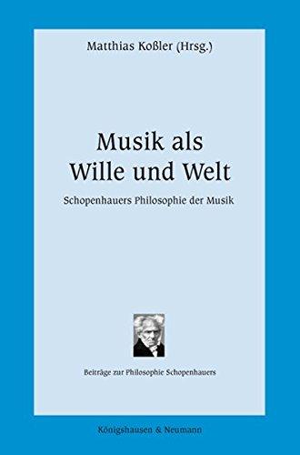Musik als Wille und Welt: Matthias Koßler