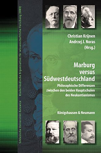 9783826048210: Marburg versus S�dwestdeutschland: Philosophische Differenzen zwischen den beiden Hauptschulen des Neukantianismus