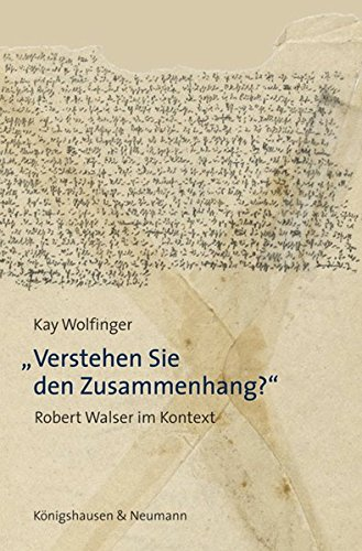 Verstehen Sie den Zusammenhang?: Kay Wolfinger