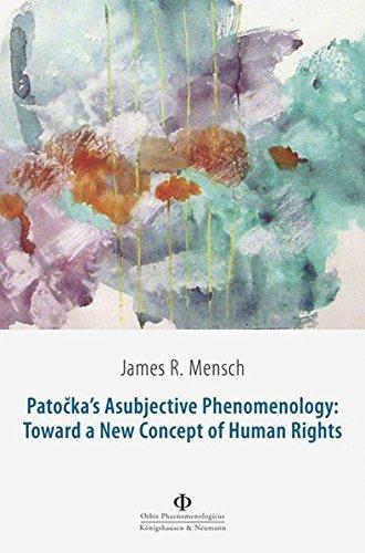9783826057748: Patocka's Asubjective Phenomenology: Toward a New Concept of Human Rights