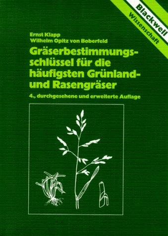 9783826330834: Gräserbestimmungsschlüssel für die häufigsten Grünlandgräser und Rasengräser