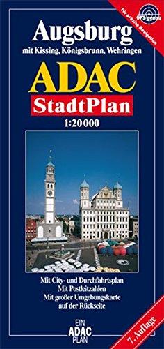9783826400247: ADAC Stadtplan Augsburg 1 : 20 000: Mit Kissing, Königsbrunn, Stadtbergen und Wehringen. GPS-genau