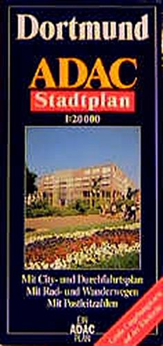 9783826400995: Dortmund ADAC Stadtplan 1:20 000: Mit City- und Durchfahrtsplan, mit Rad- und Wanderwegen, mit Postleitzahlen : mit grosser Umgebungskarte (German Edition) (English and German Edition)
