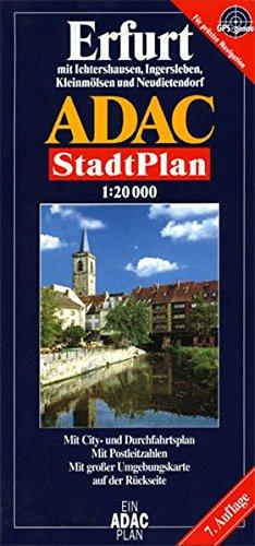 9783826401183: ADAC Stadtplan Erfurt 1 : 20 000: Mit Ingersleben, Ichtershausen, Kleinmölsen und Neudietendorf. Mit City- und Durchfahrtsplan, Postleitzahlen und großer Umgebungskarte auf der Rückseite