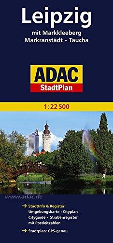 ADAC Stadtplan Leipzig: Mit Markkleeberg, Markranstädt, Taucha. Stadtinfo & Register: Umgebungskarte, Cityplan, Cityguide, Straßenregister mit Postleitzahlen. Stadtplan: GPS-genau - ADAC Kartografie