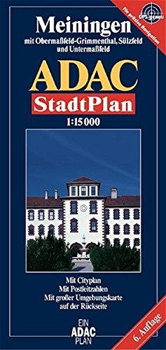 9783826402906: ADAC Stadtplan Meiningen 1 : 15 000: Mit Oberma�feld-Grimmenthal, S�lzfeld und Unterma�feld. Mit Cityplan, Radwegen, Postleitzahlen. Mit gro�er Umgebungskarte
