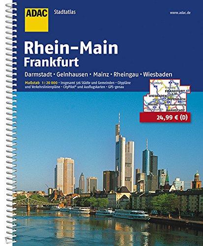 9783826404979: ADAC Städte- und Gemeindeatlas Rhein-Main / Frankfurt 1 : 20 000: Darmstadt, Gelnhausen, Mainz, Rheingau, Wiesbaden. Grossraum Städte- und ... CityPilot und Ausflugskarten. GPS-genau