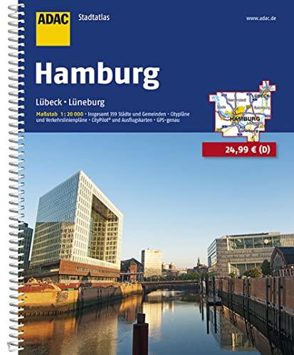 9783826404993: ADAC Stadtatlas Hamburg 1 : 20 000: L�beck, L�neburg. Insgesamt 359 St�dte und Gemeinden. Citypl�ne und Verkehrslinienpl�ne. CityPilot und Ausflugskarten. GPS-genau