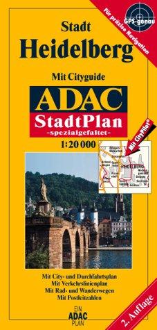 9783826407246: ADAC Stadtplan Stadt Heidelberg 1 : 20 000. Spezialgefaltet.
