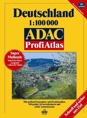 9783826409622: ADAC ProfiAtlas Deutschland im Maßstab 1:100.000