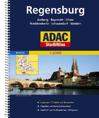 9783826411342: ADAC Stadtatlas Großraum Regensburg 1 : 20 000.